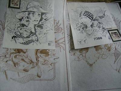 Tri-Chem Liquid Embroidery Picture Your Choice Vogue #1 OR #2 (Lady) - 18x12 Inc