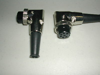 7 Pin Right Angle Female Microphone Plugs - pack of two