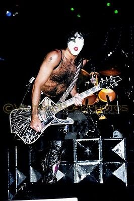 """Paul Stanley KISS Photo 8x12 or 8x10"""" 1979 Dynasty Tour NYC NY Live Concert 45"""