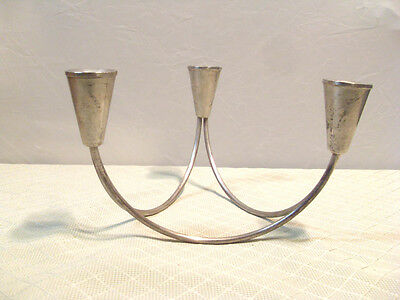 Vintag Mid Century Modern Duchin Creations Sterling Candle Holder