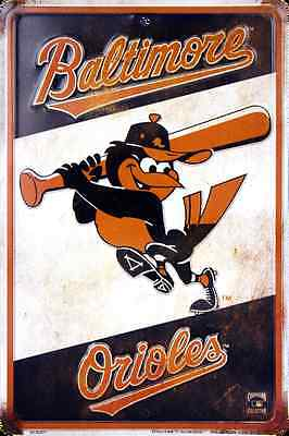 "BALTIMORE ORIOLES METAL SIGN RETRO VINTAGE PARKING SIGN MAN CAVE 8"" x 12"""