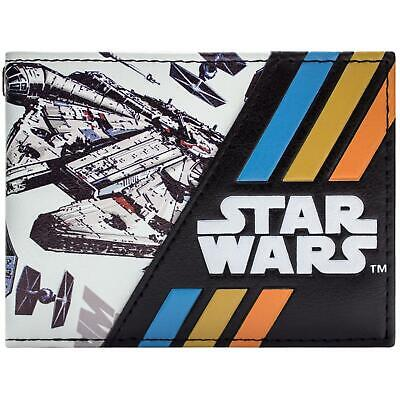Awesome Colourful Star Wars Millenium Falcon Space Craft Bi-Fold Wallet