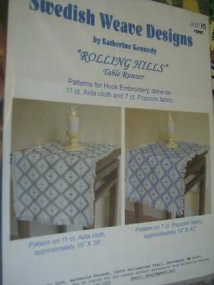 Swedish Weave Designs- Rolling Hills Table Runner Pattern -Katherine Kennedy