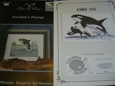 Freedom's Passage & Orcas- Cross Stitch Charts- Killer Whale Designs