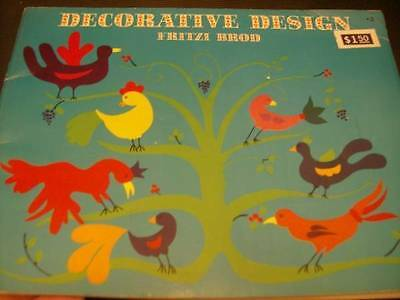 Decorative Design Embroidery/Painting Craft Book-Brod- Trees/Birds/Celtic/Butter