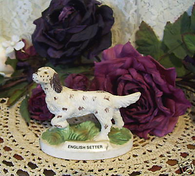 ENGLISH SETTER DOG FIGURINE Vintage
