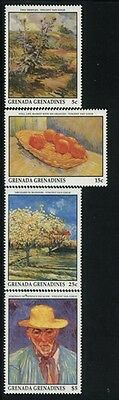 Grenada-Grenadines MNH Sc 1341,43,44,52 Paintings
