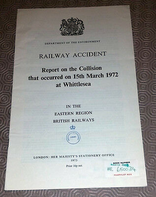 Railway Accident Report Collision DMU Class 37 Whittlesea 15th March 1972