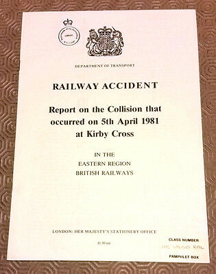 Railway Accident Report Collision Class 312 EMUs Kirby Cross 5th April 1981 (2)
