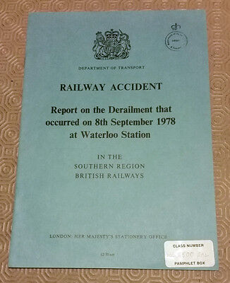 Railway Accident Report Derailment Southern Electric EMU Waterloo Sept 1978 (2)