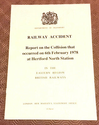 Railway Accident Report 31192 Class 31 Hertford North Station 1978 (2)