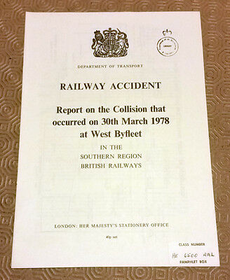 Railway Accident Report Collision Southern Electric EMU West Byfleet 1978 (2)