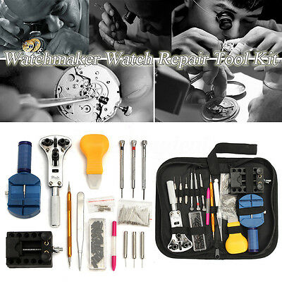Professional 144Pcs Watch Repair Back Case Pin Link Spring Remover Opener Tool