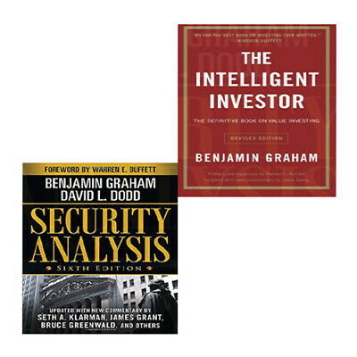 Benjamin Graham Collection 2 Books Set (Intelligent Investor,Security Analysis)