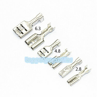Female 2.8mm 4.8mm 6.3mm Spade Insulated Electrical Wiring Crimp Terminal