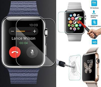 100% Premium Tempered Glass Screen Protector Film For Apple Watch iWatch 38/42mm