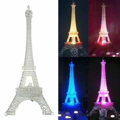 Eiffel Tower LED Lamp Night Light Home Room Table Desk Decoration Color Changing