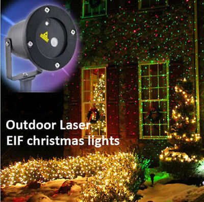 IP65 Outdoor LED Laser Projector Light Xmas Moving Static Landscape Garden Decor