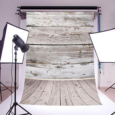 5x7FT Vintage Wooden Wall Floor Studio Photography Background Backdrops Props