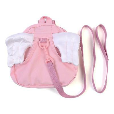 Fashion Cute Toddler Safety Harness Kid Baby Backpack Reins Harnesses Angel Pink