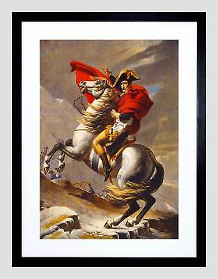 Paintings Portrait David Napoleon Crossing Alps Framed Print B12X10967
