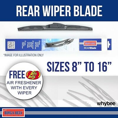 """Borg & Beck REAR Wiper Blade (x1) Multi-Clip Fitment All Sizes 8"""" to 16"""""""