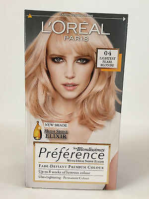 L'Oréal Preference Blondissimes Hair Colourant - 04 Lightest Pearl Blonde *S*