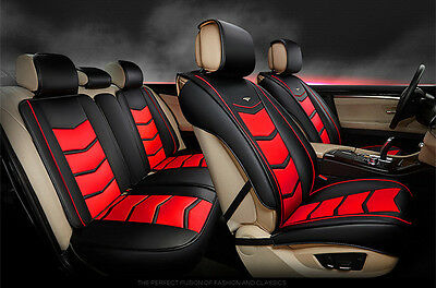 Carbon Leather Black Red Car Seat Cover Holden Commodore Calais Colorado Cruze