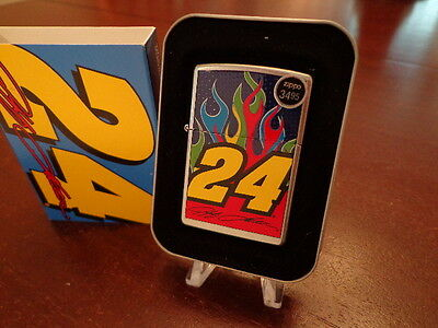 Jeff Gordon Big #24 Flames Nascar Zippo Lighter Mint In Box