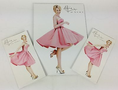 Kylie Minogue Official promo card 'at home' shop display stand (p) & 2 Brochures