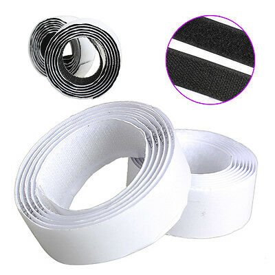 2 Rolls Strong Backing Self Adhesive Magic Hook Loop Tape Fastener 1/25m