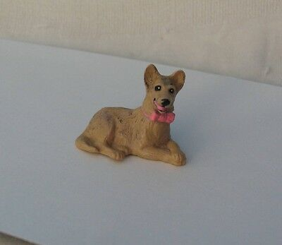 Dog Figure Terrier Or Shepherd Lying Down 1994 Meg