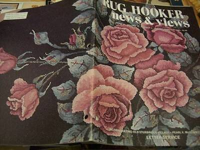 Rug Hooker News & Views Jan/Feb 1984 Tea Roses, Pigs In Clover, Jacobean Tree, A