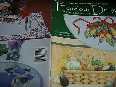 Floorcloth Designs & Accessories Painting Book -Dougherty, Fruit, Vegetables