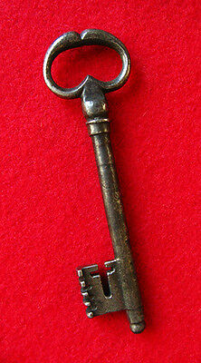 "Rare Long French ""Frog Legs"" Bow 1700's Old Skeleton Key - More Old Keys Here"