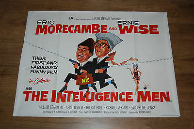 THE INTELLIGENCE MEN-VERY RARE ORIGINAL UK 1965 QUAD FILM POSTER morecambe wise