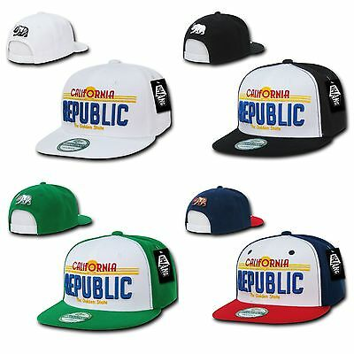 ab7d0e6e613644 1 Dozen California Republic License Plate Flat Bill Snapback Hats Caps  Wholesale