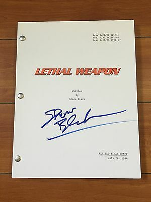 SHANE BLACK SIGNED LETHAL WEAPON FULL MOVIE SCRIPT w/ EXACT PROOF