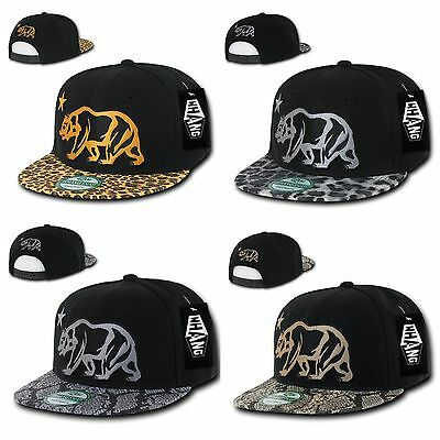 5f009219524b5e 1 Dozen Animal Leopard Snake Skin Cali Republic Bear Snapback Hats Wholesale