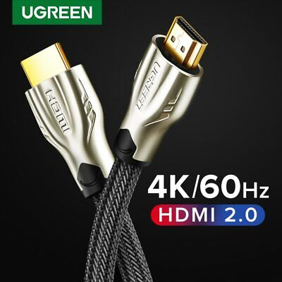 Ugreen Braided Ultra HD HDMI Cable V2.0 High Speed 2160P 4K 3D CHROME HDTV Gold