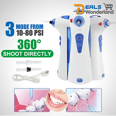 Portable Cordless Dental Oral Irrigator Water Jet Teeth Tooth Flosser Cleaner