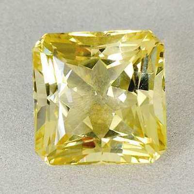 CERTIFIED earth mined Natural Yellow Scapolite with 38.96 cts. Scissor Cut