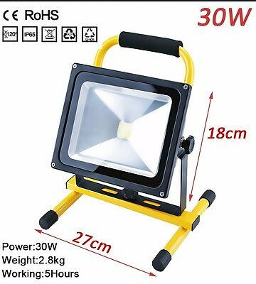 30W Flood Light Portable Rechargeable LED Work LED Site Light Waterproof IP65