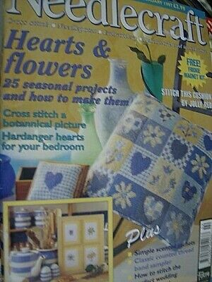Needlecraft UK Magazine #70 Feb 1997, Hearts & Flowers, Trapunto Shells, Band Sa