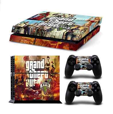 Grand Theft Auto GTA V PS4 Playstation 4 Decal Skin Sticker NEW