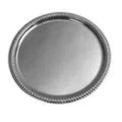 Winco CMT-14 Round Tray, 14-Inch, Chrome