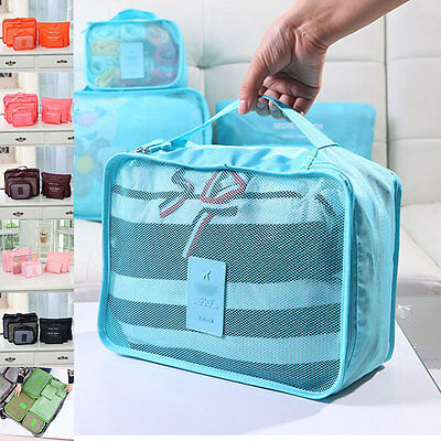 6Pcs Clothes Storage Bags Set Packing Cube Travel Home Organizer 7Color