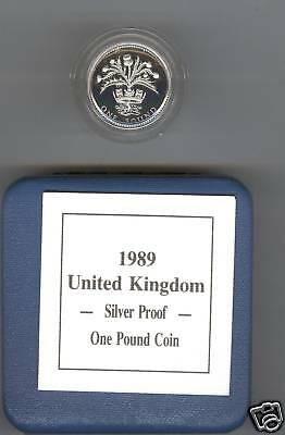 1989 Boxed Standard Proof £1 Scotland Thistle