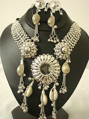 Cowrie Shell Jewelry |Tribal Fashion Gypsy Hippie Boho Wiccan Statement Necklace