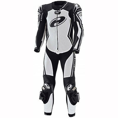 Held Full-Speed White / Black Motorcycle One Piece Ladies Leather Suit All Sizes
